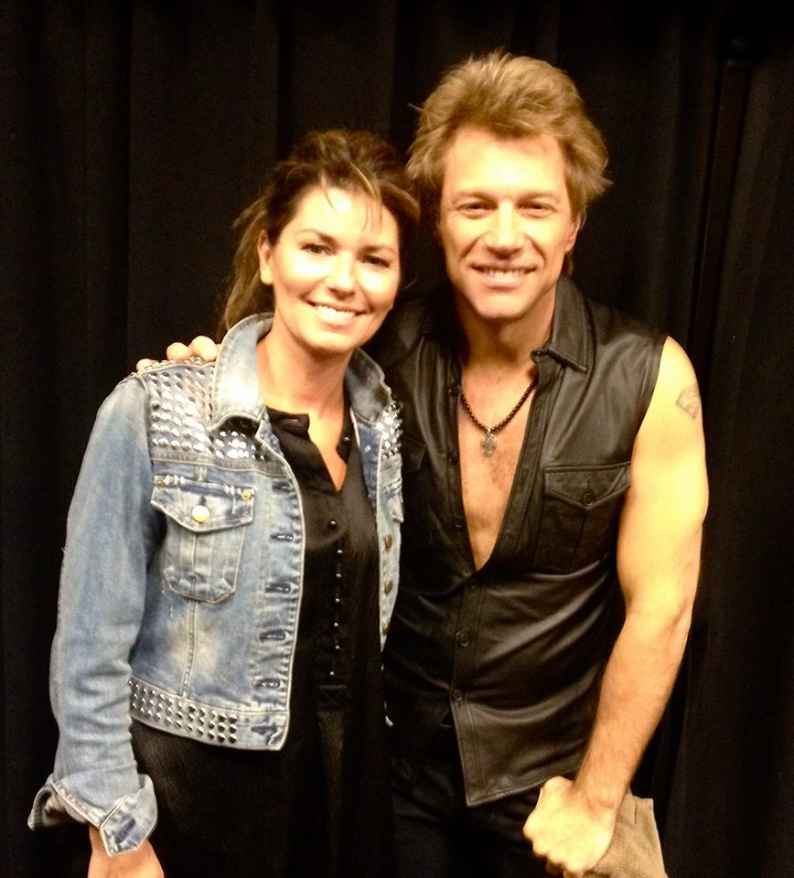 Eilleen morrison news shania from shaniatwain 1034am et wonderful to catch up backstage with jon bon jovi yesterday in vegas i had a great time at the show m4hsunfo